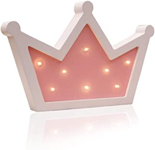 Sweet FanMuLin Crown LED Light Wall Decor, Queen Princess Kings Shaped Sign-Lighted,Crown Decor for Birthday Wedding Party, Christmas, Kids Room, Living Room Decor (Pink)