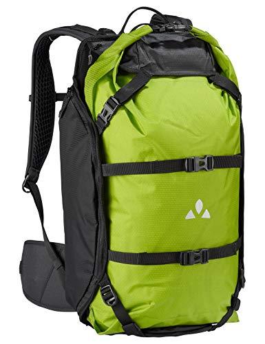 VAUDE Trailpack Bolsillo Suelto para Mochila, 55 cm, 27 litros, Black/Green