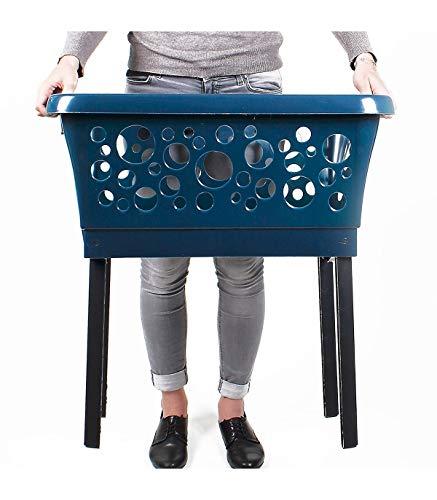 Wäschekorb, ausklappbar, Blau, 20777133