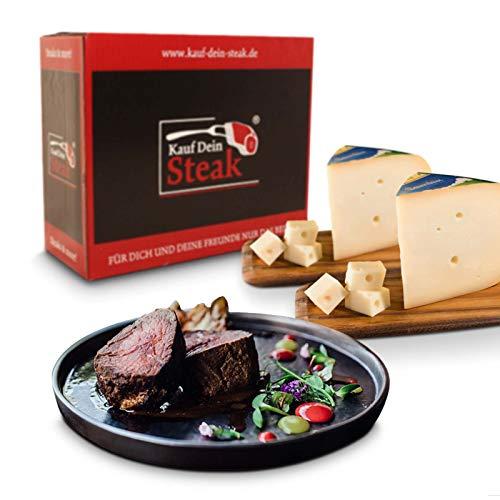 KDS Steak, Rumpsteak, Rib-Eye-Steak, T-Bone Steak alles DRY AGED Steakpfeffer, Käse Goudas jung 4,1kg Schlemmerpaket zum Grillen, schlemmen