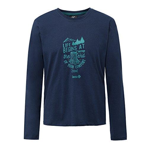 Izas Arosa Camiseta, Hombre, Azul Noche / Agua Marina, S