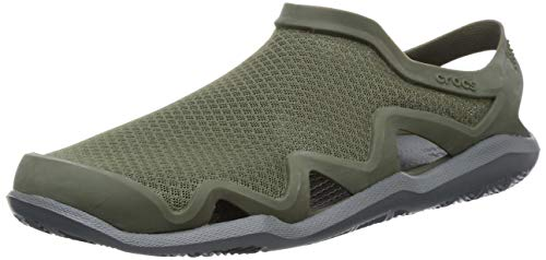 Crocs Herren Clogs, Swiftwater Mesh Wave M Army Green/Slate Grey, 43/44 EU