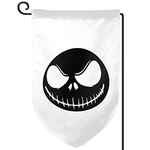 Garden Flag 12.5x18 Inch Evil Skull Mouth Double Sided Decorative Flag for Outdoor Decoration