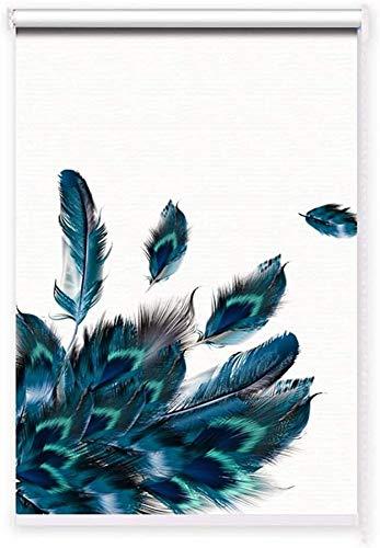 WGFGXQ Persianas enrollables Opacas con Aislamiento térmico Persianas Impermeables para Ventanas Persianas enrollables Opacas con diseño de Patos para Cortina de baño Cocina Personalizable (Color: