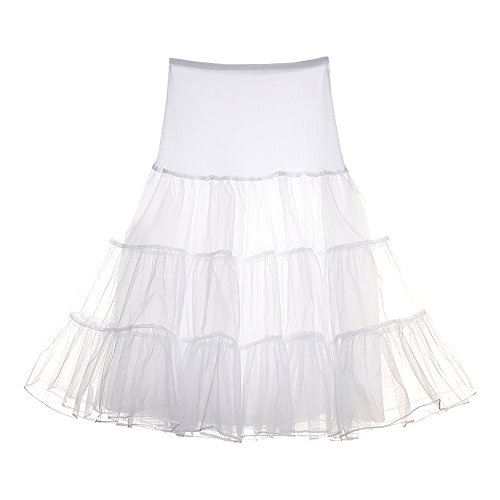 FeelinGirl Wedding Bridal 1950 Petticoat Reifrock Unterrock Petticoat Underskirt Crinoline für Rockabilly Kleid