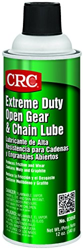 CRC Extreme Duty Open Gear and Chain Lube, 12 oz Aerosol Can, Black