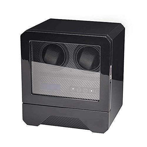 ZHANGYH Vibrador de Reloj mecánico Caja enrolladora automática de Reloj, Pantalla táctil LCD, Motor silencioso y alimentación con Adaptador de CA, Caja de presentación d