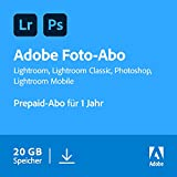 Adobe Creative Cloud Foto-Abo mit 20GB: Photoshop und Lightroom | 1 Jahreslizenz | PC/Mac Online Code & Download -