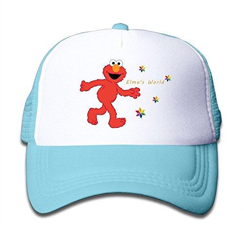 Grace Little Elmo's World Children Outdoor Mesh Hat Walk Hat Adjustable SkyBlue