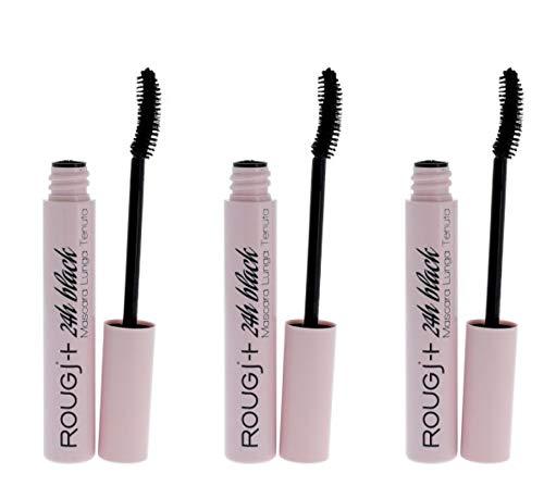 Rougj Mascara Black long lasting 24h X 3 Pezzi