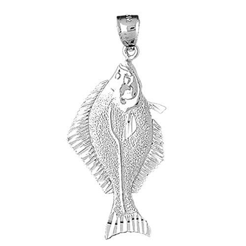 Jewels Obsession Pendentif flétan en argent 925 53 mm