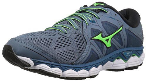 Mizuno Men's Wave Sky 2 Running Shoe, Blue Mirage/Evening Blue, 8 D US