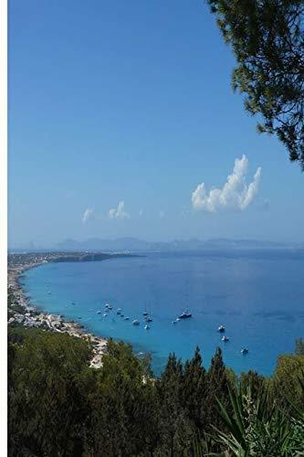 Playa Formentera: Cuaderno de composición lindo, ancho gobernado con 120 páginas   Regalos perfectos para estudiantes, niños, adolescentes, papá, ... de playa o personas que aman el surf