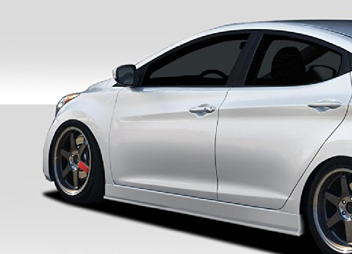 Extreme Dimensions Duraflex Replacement for 2011-2015 Hyundai Elantra Racer Side Skirt Rocker Panels - 2 Piece