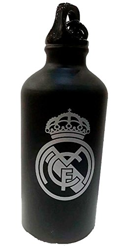 Botellin Real Madrid Negro Mate Escudo