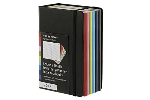 Moleskine 2015 Volant Color-a-Month Daily Planner, 12M, Pocket, Multicolor, Soft Cover (3.5 x 5.5)