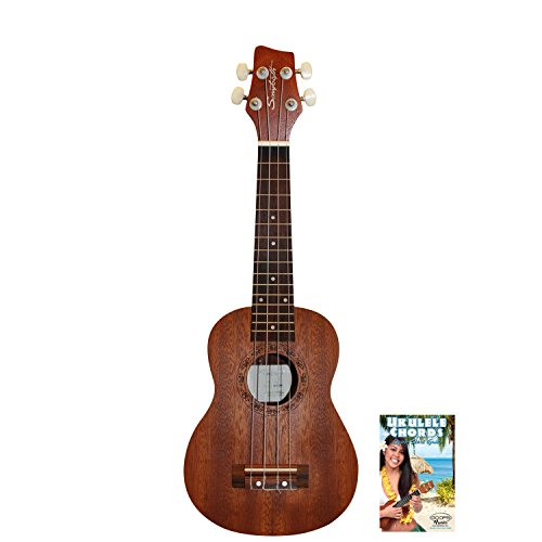 Sawtooth ST-UKE-MS-KIT-1 Mahogany Soprano Ukulele with Quick Start Guide