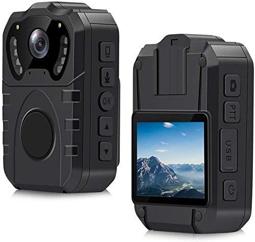 Cámara de policía impermeable CAMMHD con pantalla de 2 pulgadas, gran angular de 170 °, grabadora de pecho portátil profesional de visión nocturna HD (32GB)