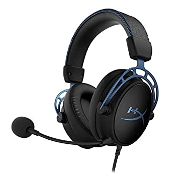 HyperX Cloud Alpha S - PC Gaming Headset 7.1 Surround Sound Adjustable Bass Dual Chamber Drivers Chat Mixer Breathable Leatherette Memory Foam and Noise Cancelling Microphone - Blue