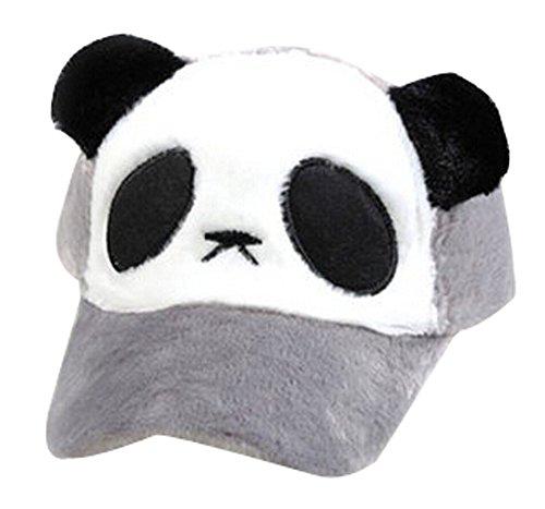 Blancho Cap Lovely Fashion Enfants Épaissir Chapeau Baseball Hat Panda Style Gris