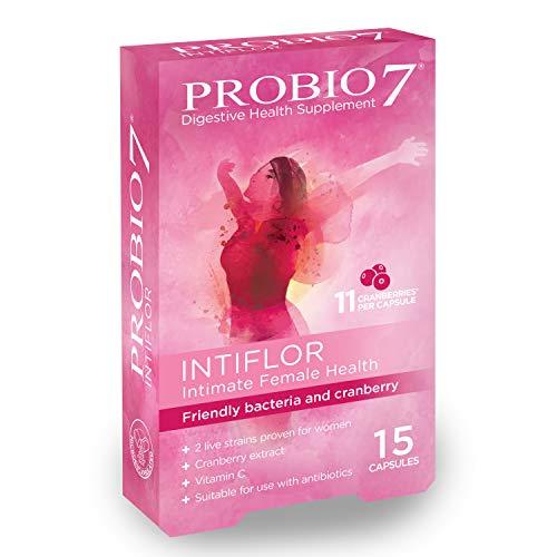 Probio7 Intiflor | Mit Preiselbeer-Extrakt | Für die intime Gesundheit der Frau | 2 Klinisch Nachgewiesene Lebendstämme