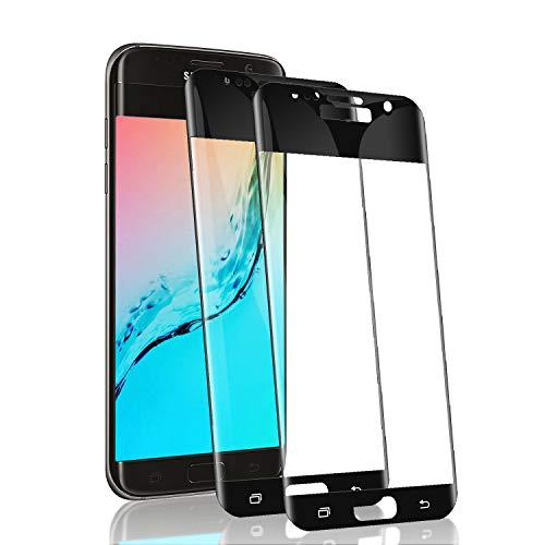 RSSYTZ 【2 Pièces Protection écran pour Samsung S7 Edge Verre trempé, 3D Full Coverage Premium Film, 9H Dureté sans Bulles Anti-Rayures Ultra Clair Protection Ecran pour Samsung S7 Edge