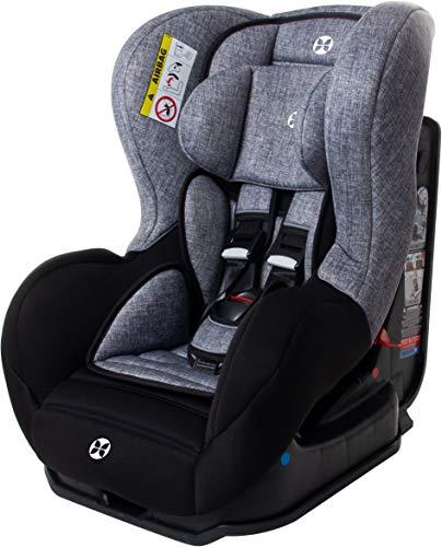 Kinder-Autositz, 0-25 kg, Gruppe 0/1/2, ECE Zulassung R44/04, Babyblume CALLA black melange 2019