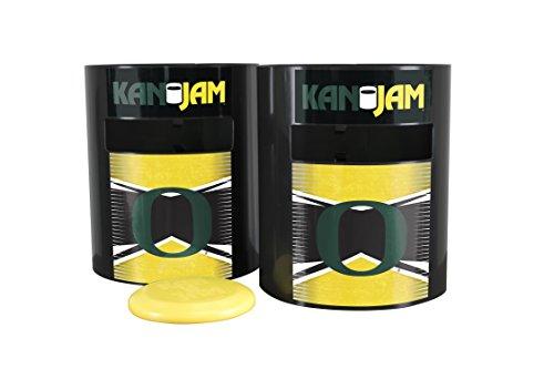 Kan Jam Oregon Ducks Disc Slam Outdoor Game, NCAA Licensed Set, Team Color, 11.875