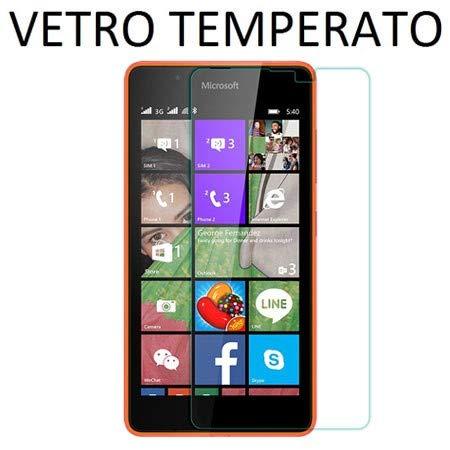 PELLICOLA PROTEGGI DISPLAY VETRO TEMPERATO 0,33mm per MICROSOFT LUMIA 540 DUAL SIM