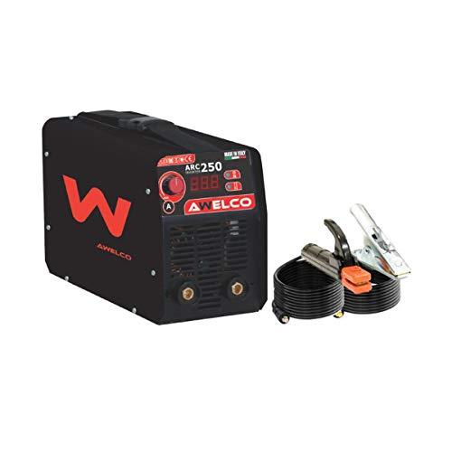 AWELCO SALDATRICE INVERTER 200 A AMP mod. ARC 250 + CASCO ELMETTO...