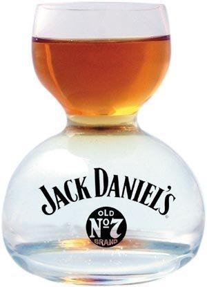 Jack Daniel#039s Chaser Jigger Double Bubble Shot Glass  3 Oz
