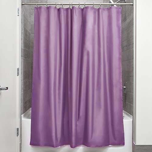 Price comparison product image iDesign Poly Bath Curtains,  Long Shower Curtain,  Made of Polyester,  Purple