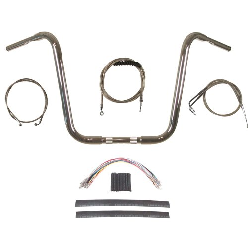Hill Country Customs 1 1/4' Chrome 16' Ape Hanger Handlebar Kit 1996-2006 Harley-Davidson Softail - BC-HC-11416C-ST06