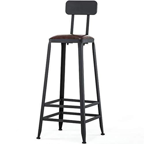 LIPINCMX Taburetes de Bar reposapiés Muebles de Interior Taburetes de Bar Estilo Vintage Respaldo Reposapiés Desayuno Mesa de Comedor Silla Mostrador Sillas Altas
