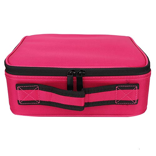Jinxuny Multi Pockets Cosmetic Bag Box, lichtgewicht vilt invoegen tas met rits multifunctionele grote capaciteit Travel handtas
