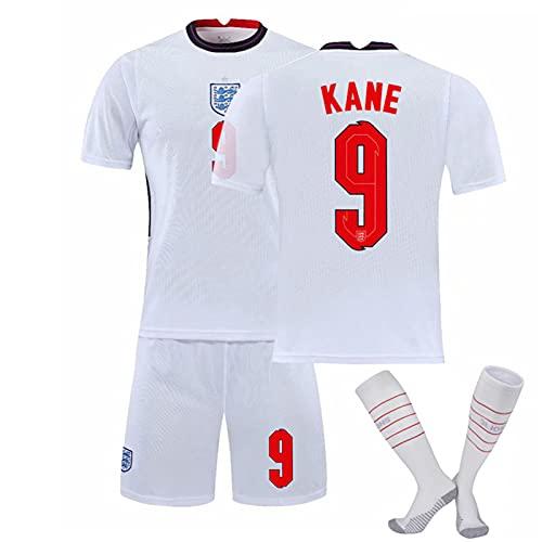 Backboards 2021 European Cup Jersey,England Camiseta Primera Segunda Equipación,Hombre Portero Camiseta de Manga Corta,Unisex Adulto,con Calcetines,White9,L