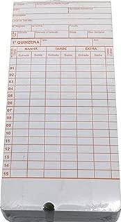 Cartão de Ponto Relógio Cartográfico - 270g/m2 Md02 c/ 100 un