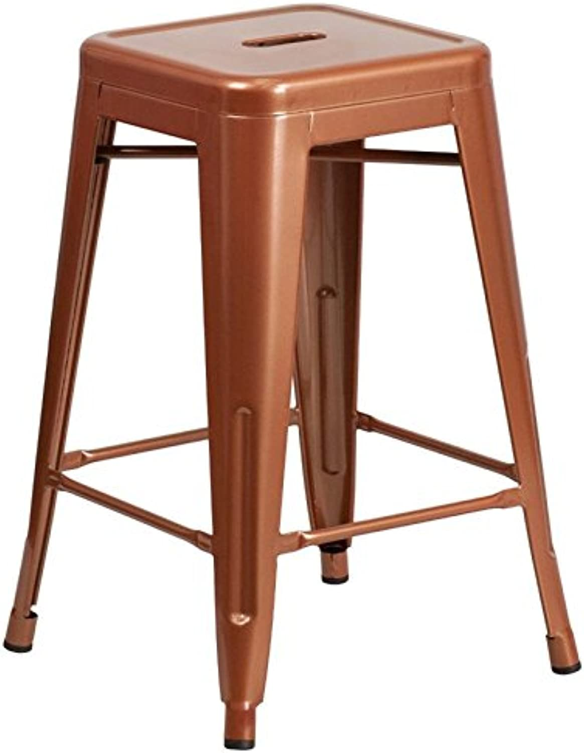 Bowery Hill 24  Metal Counter Stool in Copper