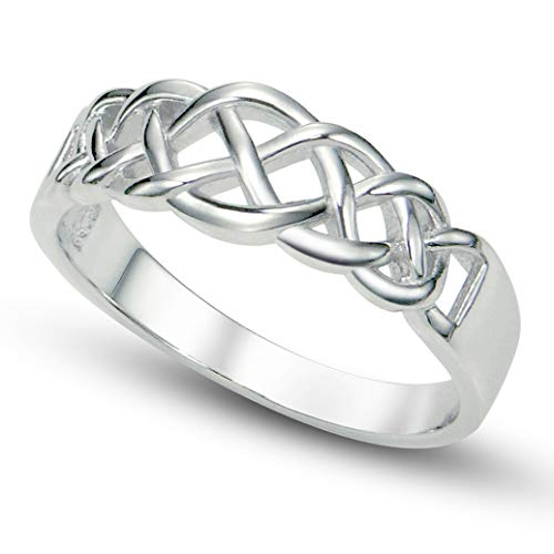Metal Factory Sz 8 Sterling 925 Silver Celtic Knot Band Ring