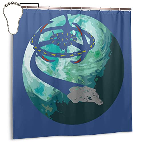 Shower Curtain Ds9 Bajor Flyby - Star Trek 3D Printing Waterproof Polyester Fabric Bathroom Curtain Bathroom Accessories with Hooks 72x72 Inch