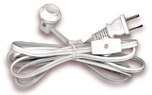 Electrical Cord Set Has Candelabra Socket With Screw On Collar And Switch 6 Ft White Set Of 5 Light Sockets