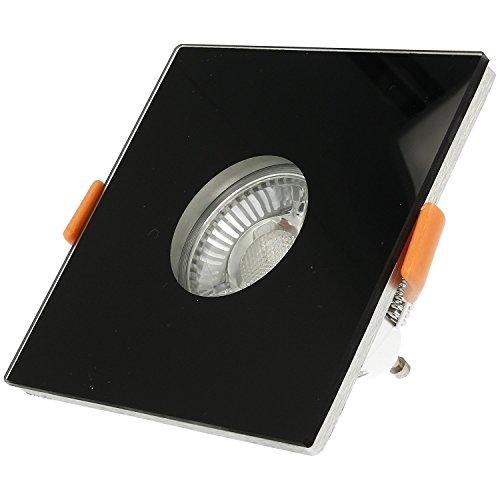 Ledox Bad Einbaustrahler Ip44 aus Echtglas Lista Vidrio Aqua schwarz eckig für Led & Halogen geeignet Einbaurahmen Bad-einbau-strahler-lampe-spot-leuchte-garten-terrassen-außen-beleuchtung