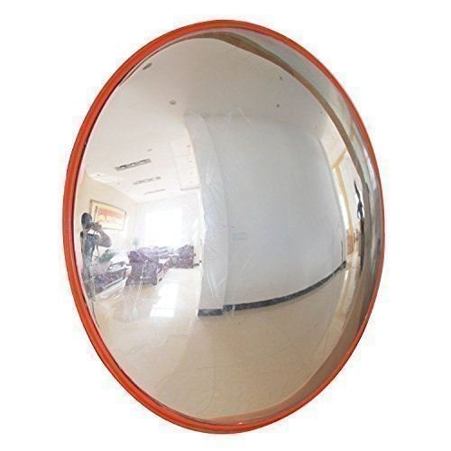 Katsu 457123, gebogen spiegel voor verkeer, straatspiegel met brede kijkhoek, gebogen veiligheidsspiegel, 30cm, 1