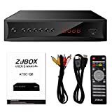 Digital TV Converter Box, ATSC Cabal Box - ZJBOX for Analog HDTV Live1080P with PVR Recording&Playback,HDMI Output,Timer Setting HDTV Set Top TV Box Digital Channel Free