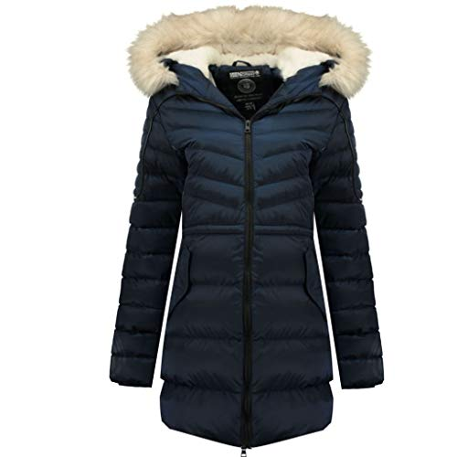 Geographical Norway Parka Mujer Destine Azul Marino 03