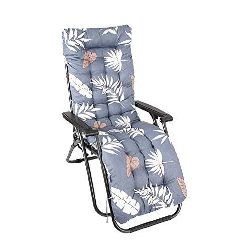 Auflagen für Gartenliegen Gartenstuhlauflage Polster für Relaxstühle Verrutschen Verhindern Sonnenliege Kissen Hochlehner Liegenauflagen Liegestuhl Relaxliege Waschbar 170x53x7cm (A)