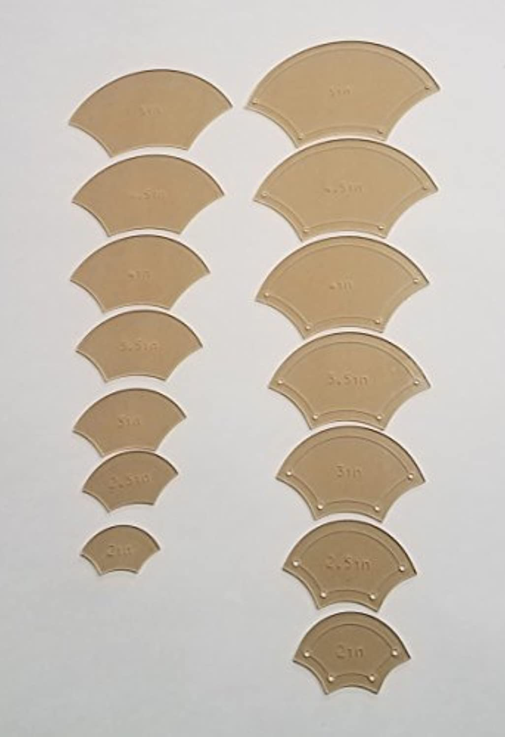 Fish Scale EPP Quilting Template Set, 2