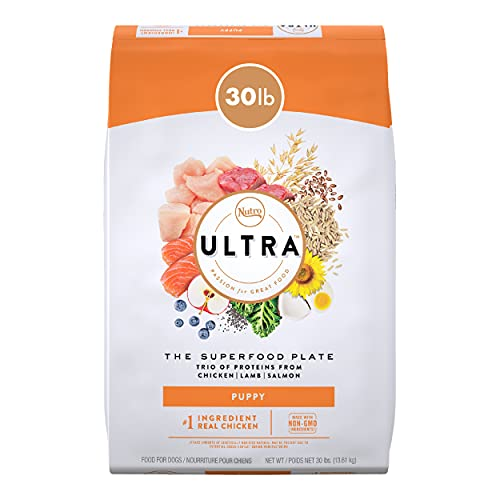 NUTRO ULTRA High Protein Natural Dry Dog Puppy Food with a Trio of Proteins from Chicken Lamb and Salmon, 30 lb. Bag