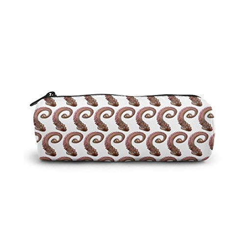 IOPLK Kulturbeutel runde Federmäppchen Kosmetiktasche Federmäppchen Pencil Case/Cosmetic Bag,Lion in The Rain Canvas Stationery Stylish Simple Pencil Bag