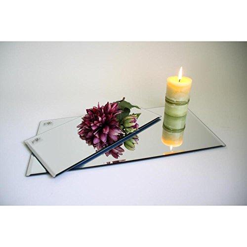 Sandra Rich Spiegelplatte, Deko Tischspiegel 30x15cm Glas rechteckig
